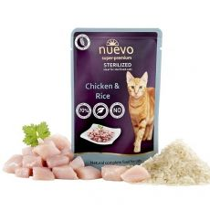 Saszetka NUEVO CAT Sterilised Chicken & Rice 85 g