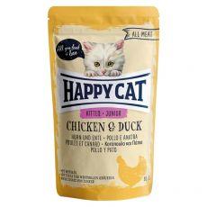 Saszetka Happy Cat ALL MEAT Kitten Junior Chicken & Duck 85 g