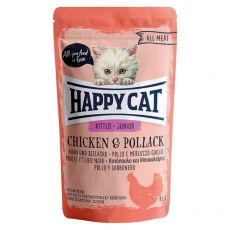 Saszetka Happy Cat ALL MEAT Kitten Junior Chicken & Pollack 85 g