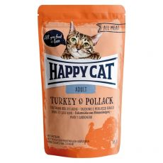 Saszetka Happy Cat ALL MEAT Adult Turkey & Pollack 85 g