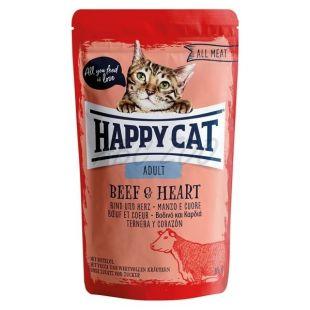 Saszetka Happy Cat ALL MEAT Adult Beef & Heart 85 g