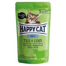 Saszetka Happy Cat ALL MEAT Adult Veal & Lamb 85 g