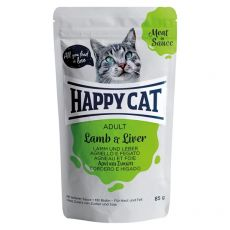 Saszetka Happy Cat MEAT IN SAUCE Adult Lamb & Liver 85 g