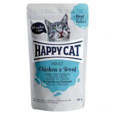 Saszetka Happy Cat MEAT IN SAUCE Adult Chicken & Trout 85 g