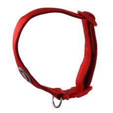 Czerwona, neoprenowa obroża 25-40 cm / 15 mm, S