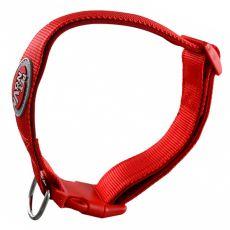 Czerwona, neoprenowa obroża 33-52 cm / 25 mm, XL