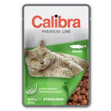 CALIBRA Cat Adult Sterilised kawałki z łososiem w sosie 100 g