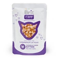 Saszetka Brit Care Kitten Chicken & Cheese 80 g