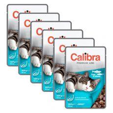 CALIBRA Cat Adult kawałki z pstrągiem i łososiem w sosie 6 x 100 g