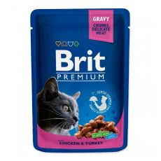 Saszetka BRIT Premium Cat Chicken & Turkey 100 g
