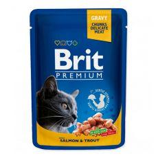 Saszetka BRIT Premium Cat Salmon & Trout 100 g
