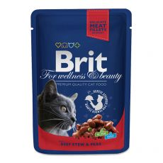 Saszetka BRIT Premium Cat Beef Stew & Peas 100 g