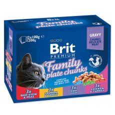 Saszetki BRIT Premium Cat Family Plate 12 x 100 g