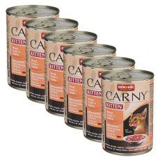 Karma CARNY KITTEN wołowina, cielęcina + kurczak 6 x 400 g