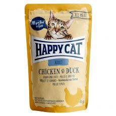 Saszetka Happy Cat ALL MEAT Adult Chicken & Duck 85 g