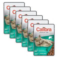 CALIBRA Cat Adult Sterilised kawałki z wątróbką w sosie 6 x 100 g