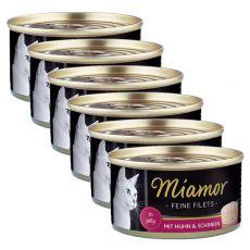 Konserwa Miamor Filet kurczak i szynka 6 x 100 g