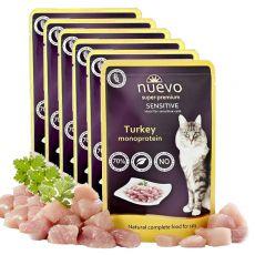 Saszetka NUEVO CAT Sensitive Turkey Monoprotein 6 x 85 g