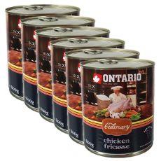 Konserwa ONTARIO Culinary Chicken Fricasse 6 x 800 g