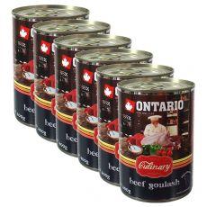 Konserwa ONTARIO Culinary Beef Goulash 6 x 400 g