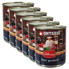 Konserwa ONTARIO Culinary Beef Goulash 6 x 800 g