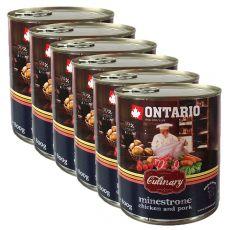 Konserwa ONTARIO Culinary Minestrone Chicken and Pork 6 x 800 g