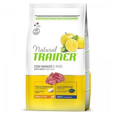 Trainer Natural Small and Toy Adult, wołowina i ryż 2 kg