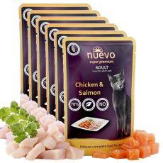 Saszetka NUEVO CAT Adult Chicken & Salmon 6 x 85 g