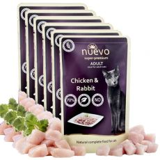 Saszetka NUEVO CAT Adult Chicken & Rabbit 6 x 85 g, 5 + 1 GRATIS