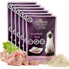 Saszetka NUEVO CAT Kitten Poultry & Rice 6 x 85 g, 5 + 1 GRATIS