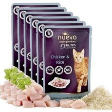 Saszetka NUEVO CAT Sterilised Chicken & Rice 6 x 85 g