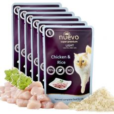Saszetka NUEVO CAT Light Chicken & Rice 6 x 85 g, 5 + 1 GRATIS