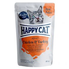 Saszetka Happy Cat MEAT IN SAUCE Adult Chicken & Turkey 85 g
