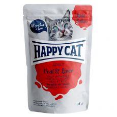 Saszetka Happy Cat MEAT IN SAUCE Adult Veal & Liver 85 g