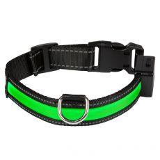 Świecąca USB obroża EYENIMAL, zielona M