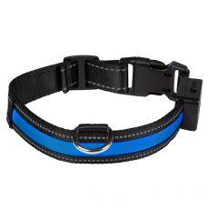 Świecąca USB obroża EYENIMAL, niebieska M