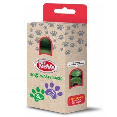 Ekologiczne woreczki na psie ekskrementy, lawenda 80 szt.