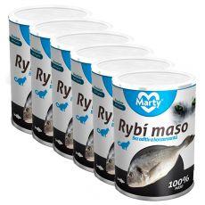 Konserwa dla kotów MARTY Premium Fish 6 x 400 g