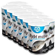 Konserwa dla kotów MARTY Premium Fish 12 x 400 g