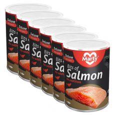 Konserwa dla kotów MARTY Deluxe Bits of Salmon 6 x 400 g