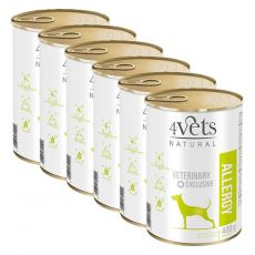 4Vets Natural Veterinary Exclusive ALLERGY 6 x 400 g
