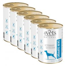 4Vets Natural Veterinary Exclusive SKIN SUPPORT 6 x 400 g