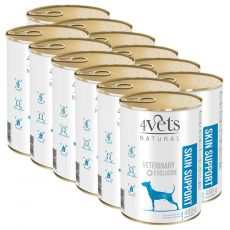 4Vets Natural Veterinary Exclusive SKIN SUPPORT 12 x 400 g