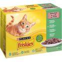 Saszetki Friskies Cat wołowina, kurczak, tuńczyk i dorsz w sosie 12 x 85 g