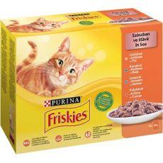 Saszetki Friskies Cat kurczak, kaczka, łosoś i indyk w sosie 12 x 85 g