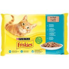 Saszetki Friskies Cat łosoś, tuńczyk, sardynki i dorsz w sosie 4 x 85 g