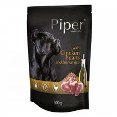 Saszetka Piper Adult z sercami kurczaka i brązowym ryżem 500 g