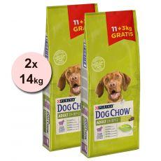 PURINA DOG CHOW ADULT Lamb 2 x 11 + 6 kg ZA DARMO