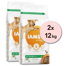 Iams Dog Adult Large Breed, Lamb 2 x 12 kg