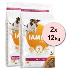 Iams Dog Senior Small Medium, Chicken 2 x 12 kg